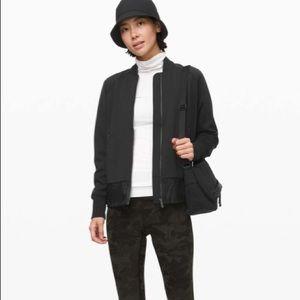 NWT Lululemon black swept along jacket size M